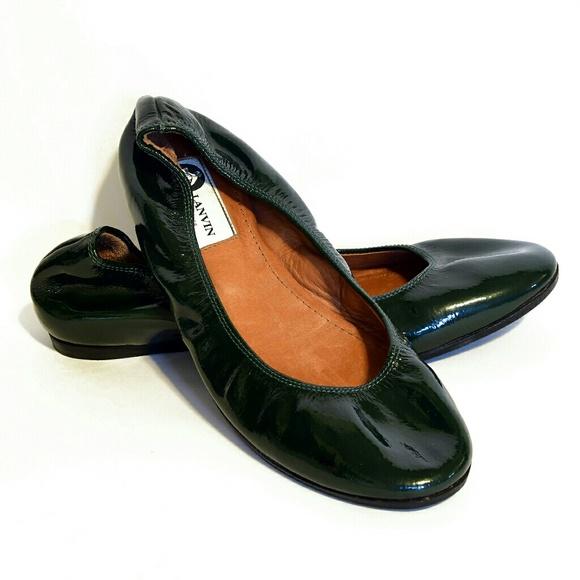 Patent Flats Poshmark Lanvin ShoesGorgeous Dark Leather Green wOPXN08nk